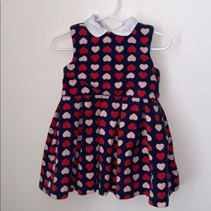 Red and pink heart dress